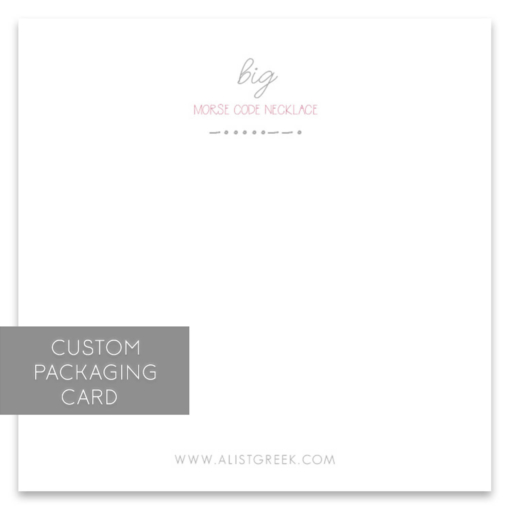 big Morse Code Custom Packaging Card