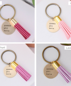 Gamma Phi Beta Tassel Keychain 4 Color Compilation 1
