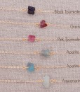 Raw Gem Necklace Labeled