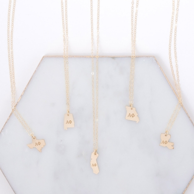 Sorority State Necklaces by www.alistgreek.com