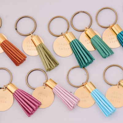Sorority Tassel Key Chains for Recruitment or Bid Day Gifts