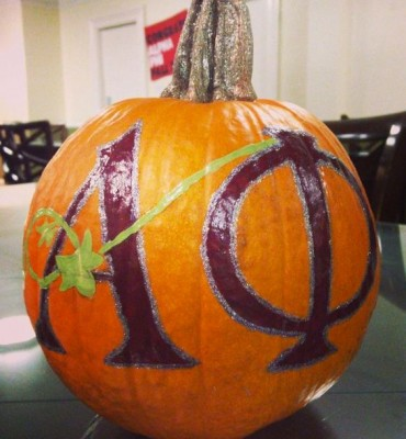 Loving this painted pumpkin from Alpha Phi International