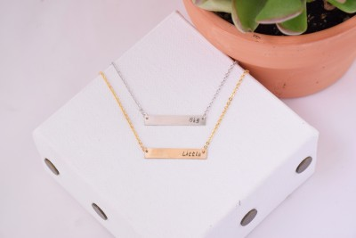 Big Sister Little Sister Sorority Bar Necklace