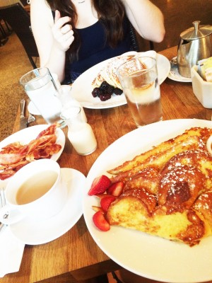 Lemon Ricotta Pancakes + French Toast + A Side of Bacon