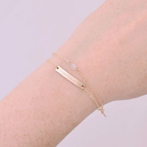 Roman Numeral Bar Bracelet from www.alistgreek.com