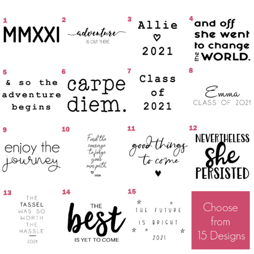 Grad Keychain Design Options 2021