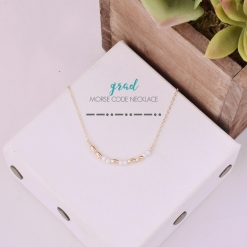 GRAD Morse Code Necklace by www.alistgreek.com