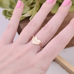 Roman Numeral Grad Year Heart Ring from www.alistgreek.com