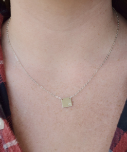 Date Square Plate Necklace from www.alistgreek.com