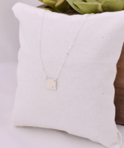 Square Plate Necklace from www.alistgreek.com