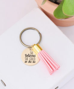 she-believed-she-could-so-she-did-blush-tassel-keychain