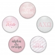 Alpha Chi Omega Button Set by www.alistgreek.com