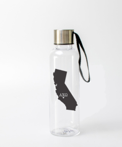 Alpha Chi Omega Black California Water Bottle from www.alistgreek.com
