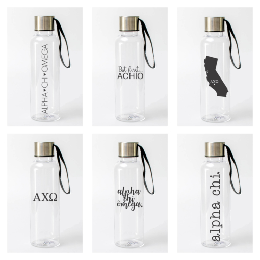 Alpha Chi Omega Water Bottles from www.alistgreek.com