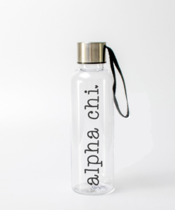 Alpha Chi Water Bottle Black from www.alistgreek.com