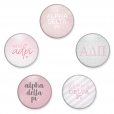 Alpha Delta Pi Pin Back Button Set by www.alistgreek.com