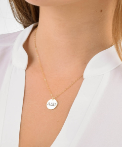 Alpha Delta Pi Med Charm Necklace CloseUp