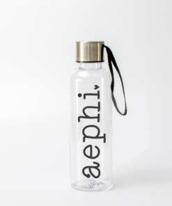 aephi water bottle from www.alistgreek.com