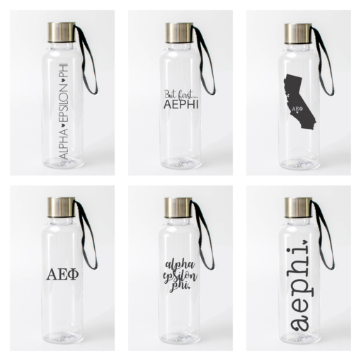 Alpha Epsilon Phi Water Bottles from www.alistgreek.com