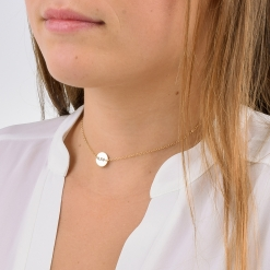 Alpha Epsilon Phi Small Circle Choker Necklace by www.alistgreek.com