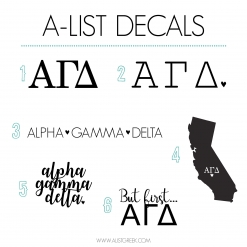 Alpha Gamma Delta Decal 6 Pack from www.alistgreek.com