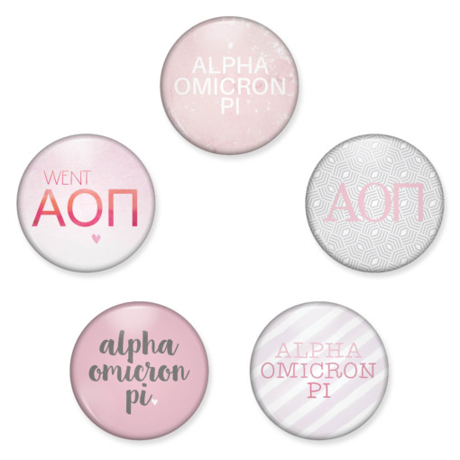 Alpha Omicron Pi Magnet Mock Up Collage