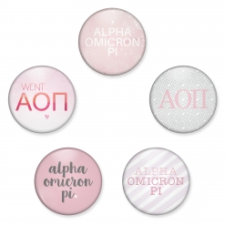 Alpha Omicron Pi Button Set from www.alistgreek.com