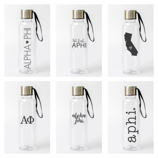 Alpha Phi Water Bottles from www.alistgreek.com