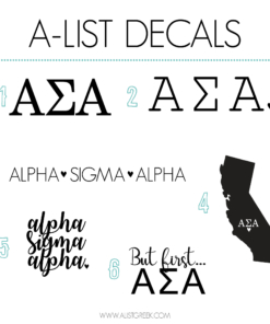 Alpha Sigma Alpha Decal 6 Pack from www.alistgreek.com
