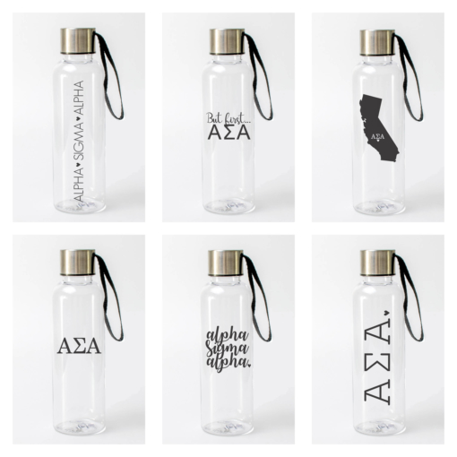 Alpha Sigma Alpha Water Bottles from www.alistgreek.com