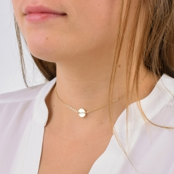 Alpha Sigma Tau Gold Choker by www.alistgreek.com