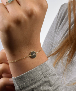 Alpha Xi Delta Circle Bracelet CloseUp