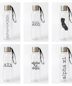 Alpha Xi Delta Water Bottles from www.alistgreek.com
