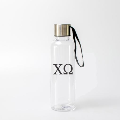 Chi Omega Greek Letters Water Bottle from www.alistgreek.com