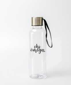 Chi Omega Script Water Bottle from www.alistgreek.com