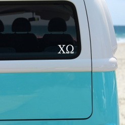 Chi Omega White Greek Letter Decal from www.alistgreek.com