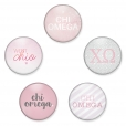 Chi Omega Buttons from www.alistgreek.com