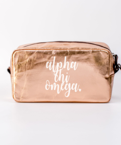Alpha Chi Omega Large Cosmetic Bag from www.alistgreek.com