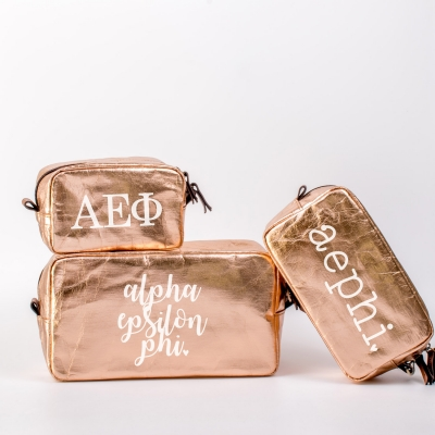 Alpha Epsilon Phi Cosmetic Bag Set from www.alistgreek.com
