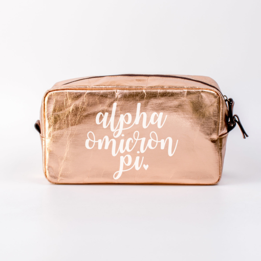 Alpha Omicron Pi Large Cosmetic Bag from www.alistgreek.com