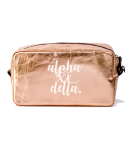 Cosmetic-Bags-Rose-Gold-Alpha-Xi-Delta-Large-White-A