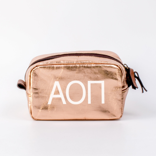 Cosmetic-Bags-Rose-Gold-Blanks-Small-AOII-White