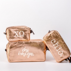 Chi Omega Cosmetic Bag Set from www.alistgreek.com