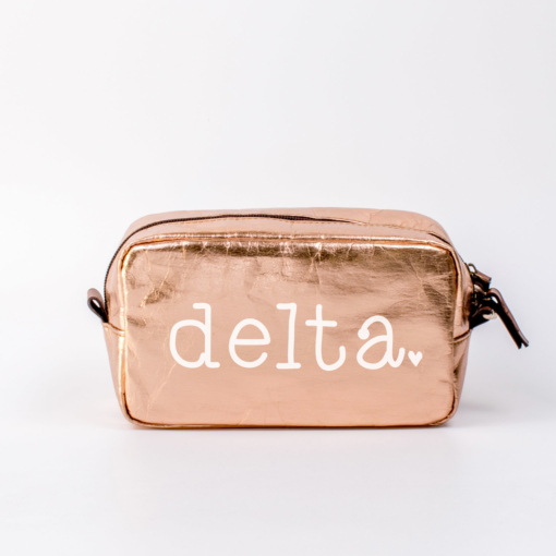 Delta Delta Delta Medium Cosmetic Bag from www.alistgreek.com