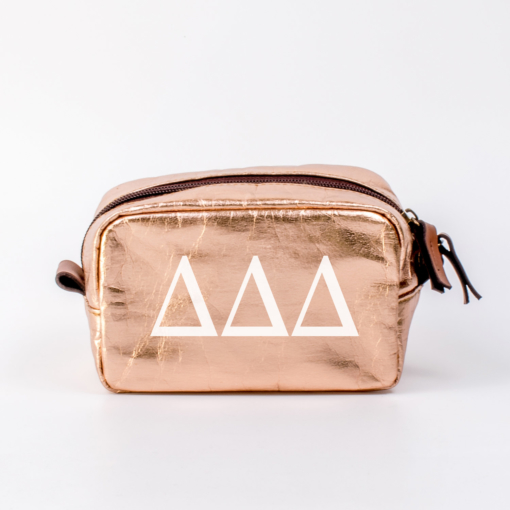 Delta Delta Delta Small Cosmetic Bag from www.alistgreek.com