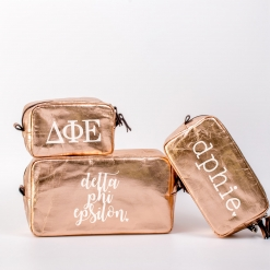 Delta Phi Epsilon Cosmetic Bag Set from www.alistgreek.com