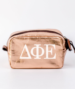 Delta Phi Epsilon Small Cosmetic Bag from www.alistgreek.com