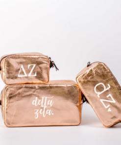 Delta Zeta Cosmetic Bag Set from www.alistgreek.com