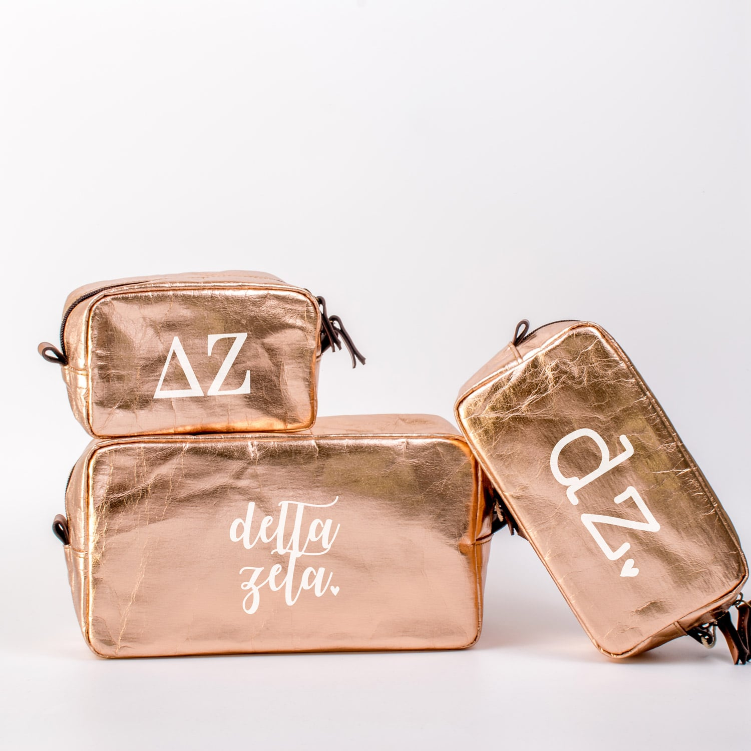 Delta Zeta Cosmetic Bag Set
