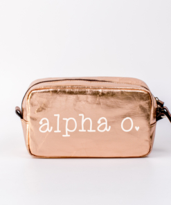 Cosmetic-Bags-Rose-Gold-Medium-Alpha-Omicron-Pi-White